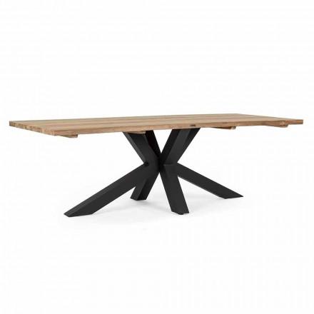 Mesa de jardín con tablero de madera de teca de Homemotion - Cowen Design