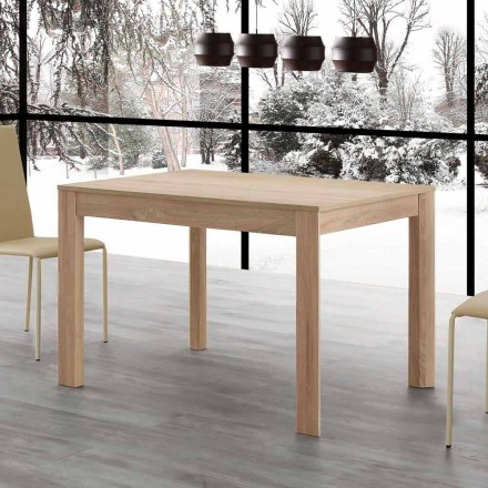 Mesa de comedor extensible Fiumicino 130x80 abierta 190 cm, diseño