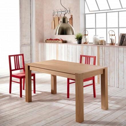 Mesa de comedor extensible de madera de roble modelo Fedro