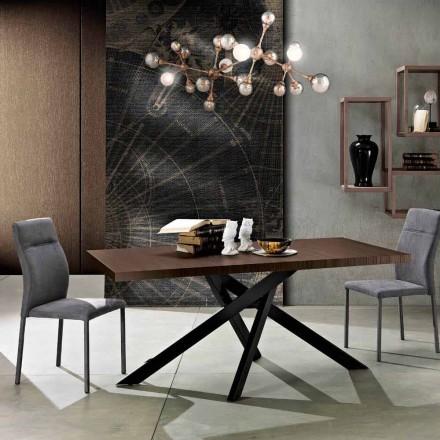 Mesa de comedor extensible en madera de melamina hecha en Italia, Dionigi