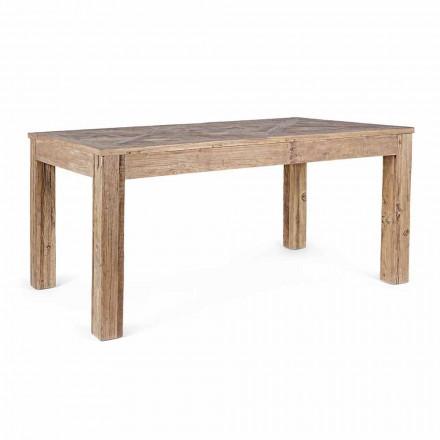 Mesa de comedor Homemotion con tablero y patas en madera de olmo - Olmo