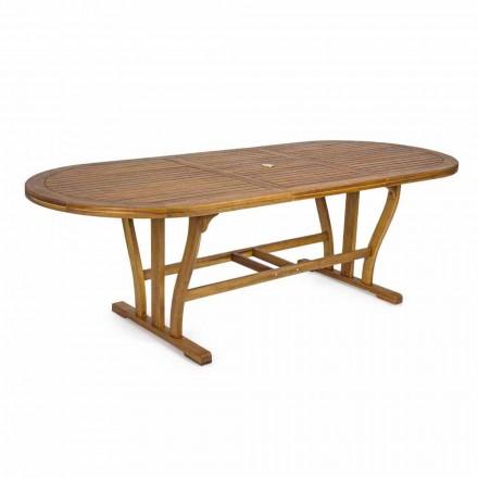 Mesa de comedor de exterior extensible hasta 240 cm en madera - Kaley