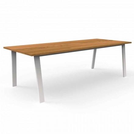 Mesa de comedor de jardín en madera de iroko y aluminio - Cottage by Talenti
