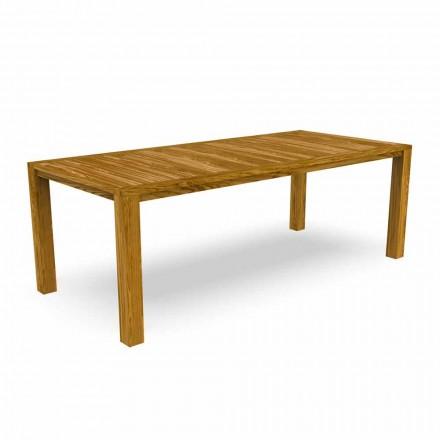Mesa de comedor moderna de jardín en madera de castaño - Ebi by Talenti
