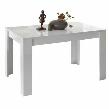 Mesa de comedor de melamina extensible hasta 185 cm Made in Italy - Aneta