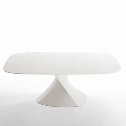 Mesa de comedor moderna Clark en acabado de roble blanco MDF 100x200cm