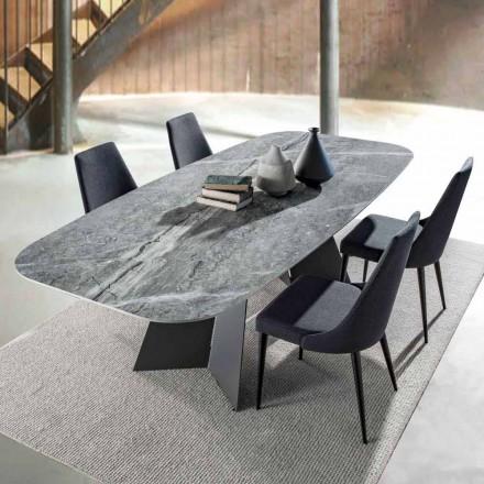 Mesa de comedor moderna con tapa de gres porcelánico - Meduno