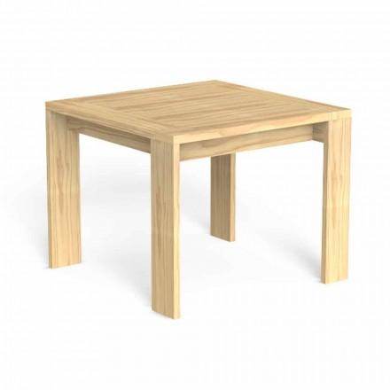 Mesa de comedor de exterior cuadrada de diseño en madera preciosa - Argo by Talenti