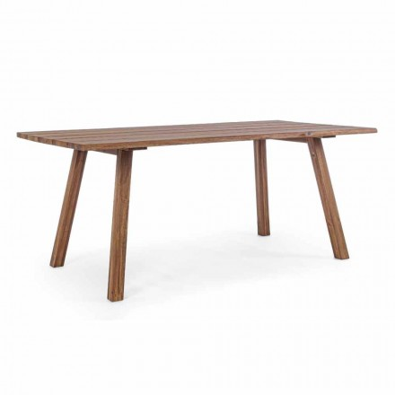 Mesa de comedor al aire libre en acabado de aceite de madera de acacia - Leonard