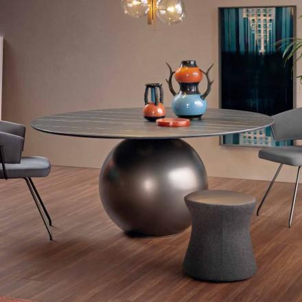 Mesa de comedor redonda con base de metal Made in Italy - Bonaldo Circus