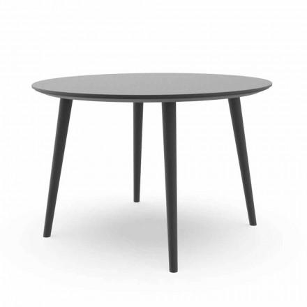 Mesa de comedor redonda para jardín en aluminio blanco o carbón - Sofy Talenti