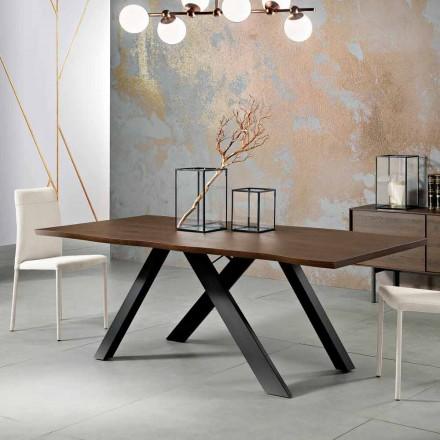 Mesa de madera maciza de diseño hecha en Italia, Wilmer