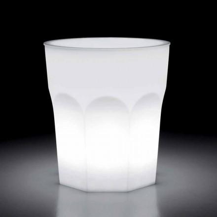 Mesa luminosa de diseño exterior en polietileno y Hpl Made in Italy - Pucca
