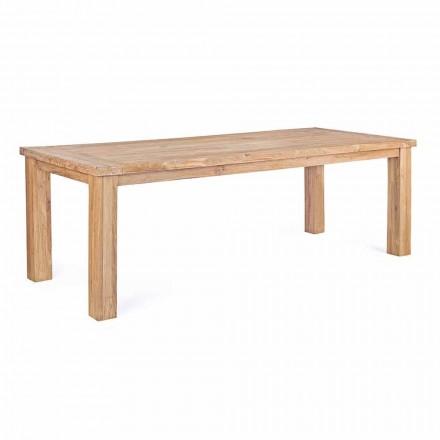 Mesa de jardín en madera de teca de diseño, 8 asientos Homemotion - Hunter