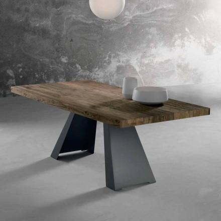 Mesa de diseño en madera maciza hecha en Italia Zerba