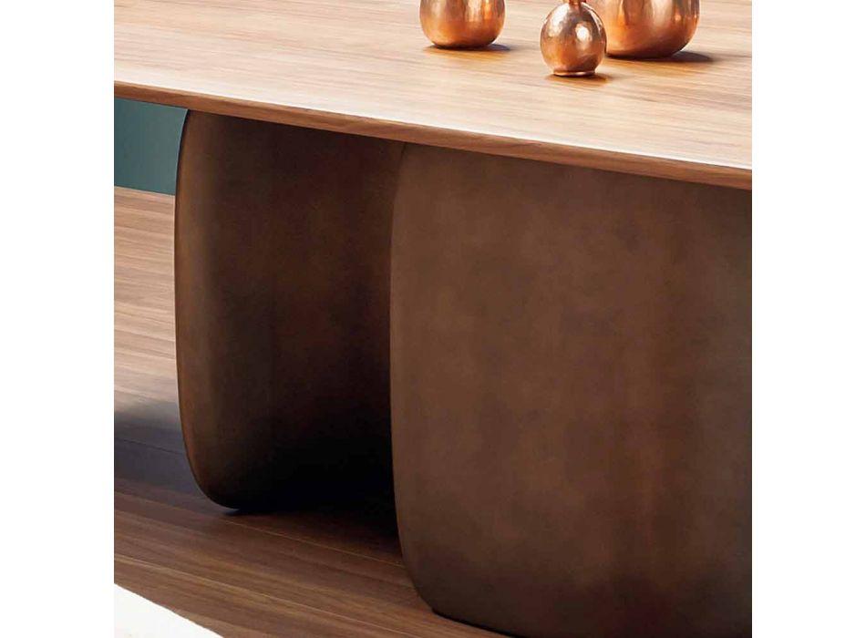 Mesa moderna de madera maciza hecha en Italia - Bonaldo Mellow