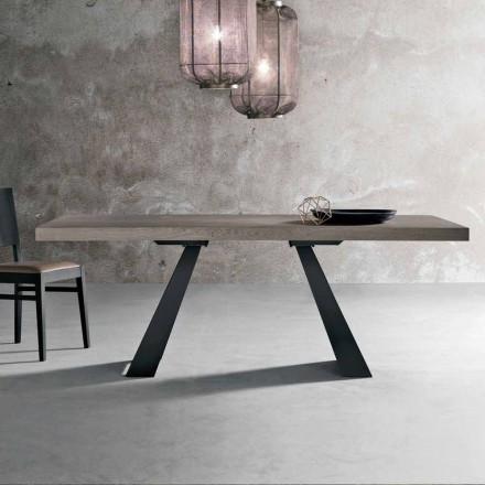 Moderna mesa de madera de roble anudada producida en Italia Zerba
