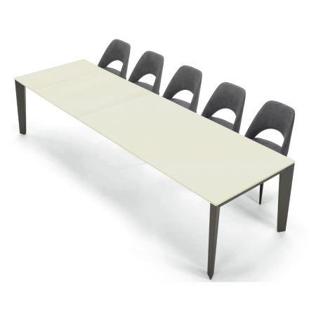 Mesa Moderna Extensible 16 asientos en Fénix Laminado hecho en Italia - Settanta