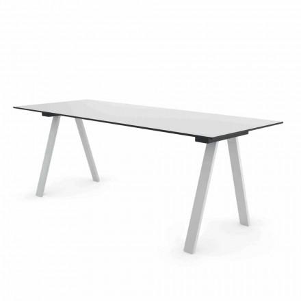 Mesa de Diseño Moderno en Metal y HPL para exteriores  Hecho en Italia - Denzil