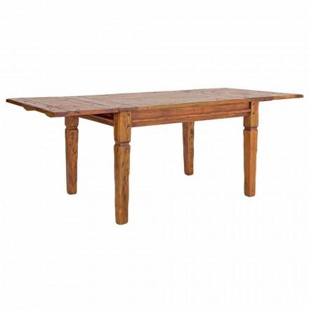 Mesa extensible clásica hasta 290 cm en madera maciza Homemotion - Carbo