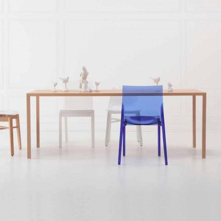 Mesa de comedor rectangular de diseño moderno en madera de roble natural - Smart