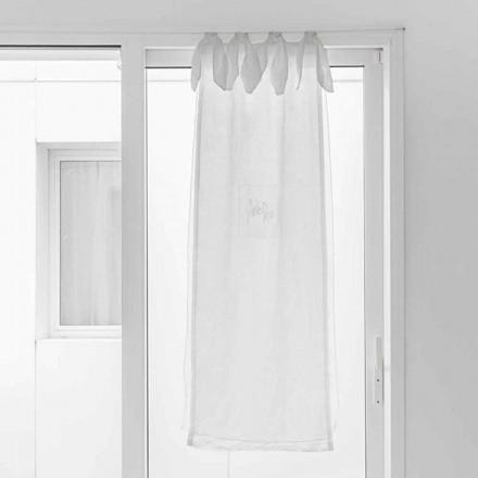 Cortina con Gasa de Lino y Organza Blanca de Elegante Diseño - Tapioca