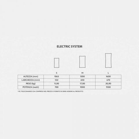 Radiador eléctrico de diseño con cristal templado Barry photo