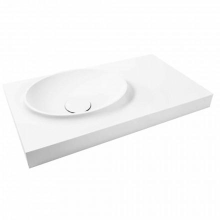 Superficie suspendida de superficie sólida con lavabo integrado Arona.