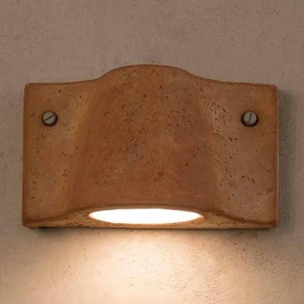 Lámpara de pared de terracota interior / exterior Toscot Lido fabricada en Italia