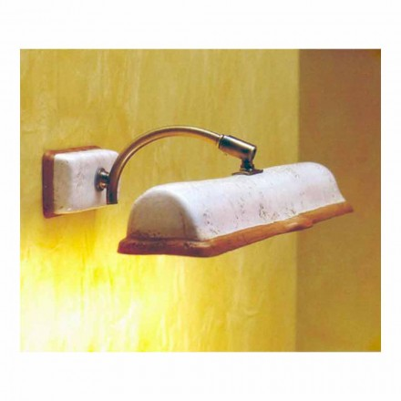 Toscot Vinci aplique con 2 luces directas fabricado en Toscana
