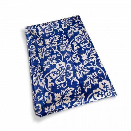 Mantel artesanal italiano 100% lino con estampado a mano Pieza única