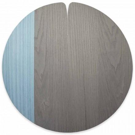 Mantel individual moderno de madera de estilo americano hecho en Italia, 4 piezas - Stan