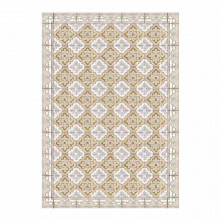 Mantel individual americano de PVC y poliéster de colores modernos, 6 piezas - Dorado