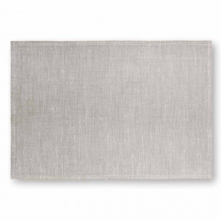 Mantel individual de lino blanco crema o natural Made in Italy, 2 piezas - Blessy