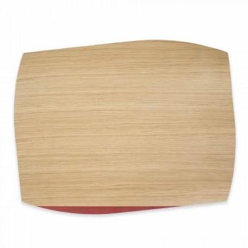 Mantel rectangular moderno en madera de roble Made in Italy - Abraham