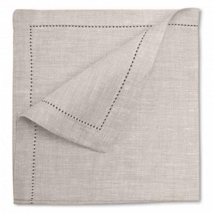 Servilleta blanca o natural de lino puro hecha en Italia, 2 piezas - Chiana