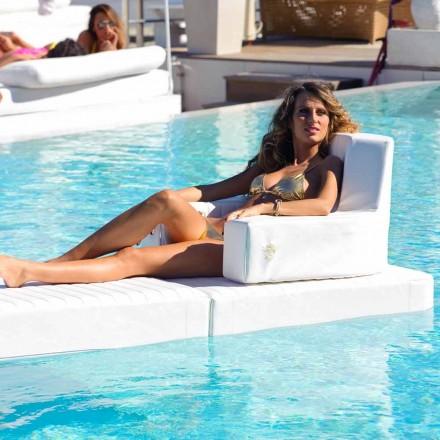 Sillón flotante de diseño blanco Trona hecho en Italia