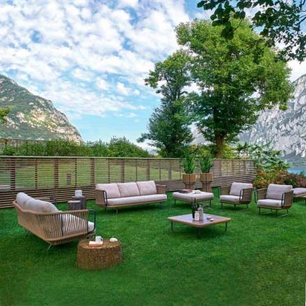 Varaschin Babylon moderno salón de jardín en aluminio y cuerda