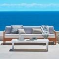 Bali moderno sofá de 3 asientos al aire libre en madera maciza de teca de Varaschin