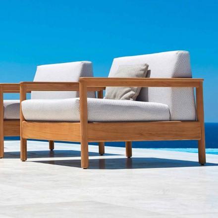 Varaschin Bali sillón al aire libre moderno en tela tapizada
