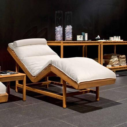 Varaschin Barcode cama de jardín moderna / de interior de teca