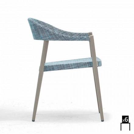 Varaschin silla inteligente de diseño moderno jardín, 6 piezas