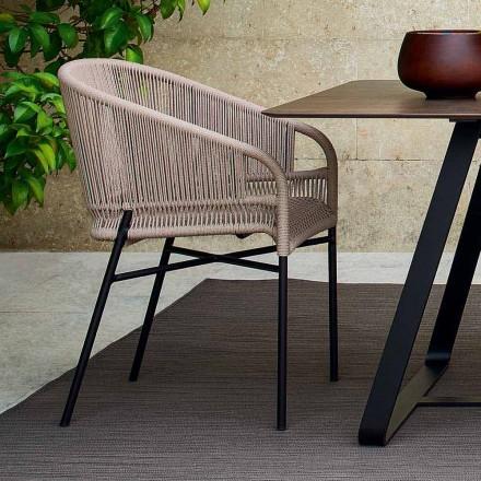 silla Varaschin Cricket con tejidos a mano exteriores, 2 piezas