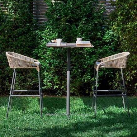 Varaschin Cricket taburete de diseño moderno jardín superior, 2 piezas