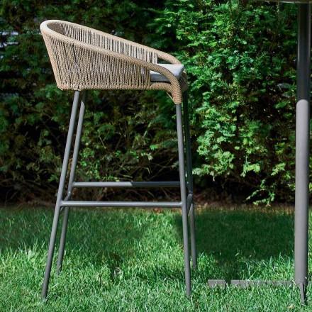 heces Varaschin Cricket moderna de aluminio jardín, 2 piezas