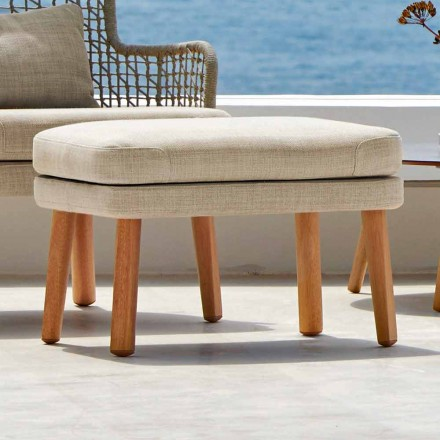 Reposapiés al aire libre de diseño Emma en tejido tapizado de Varaschin