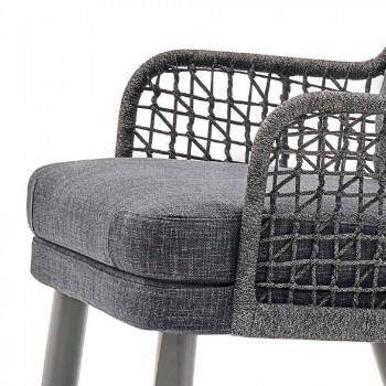 Varaschin Emma sillón al aire libre moderno con reposacabezas de tela