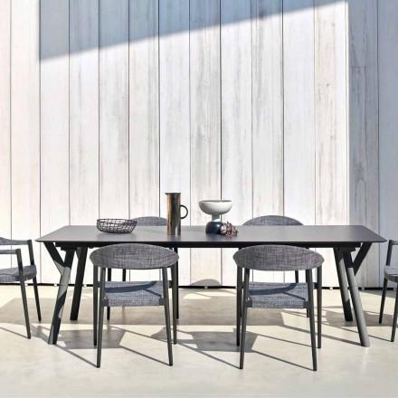 Varaschin Enlace Fijo jardín mesa de comedor o cubierta H 75 cm