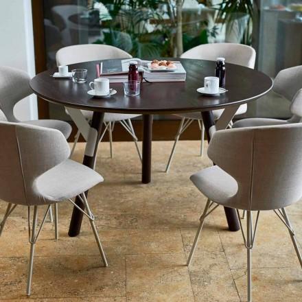 Varaschin mesa redonda Enlaces por el diseño moderno interior / exterior, H 65 cm