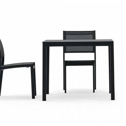 Varaschin Victor mesa para comedor interior y jardín, diseño moderno